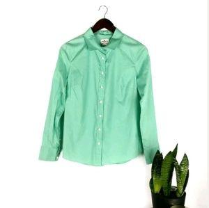 J Crew seafoam stretch classic button down shirt